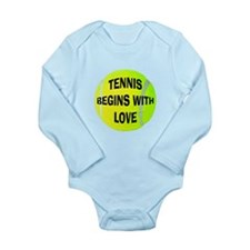 Tennis Begins With Love Long Sleeve Infant Bodysui