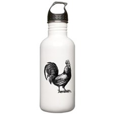 Hand Sketch Rooster Water Bottle