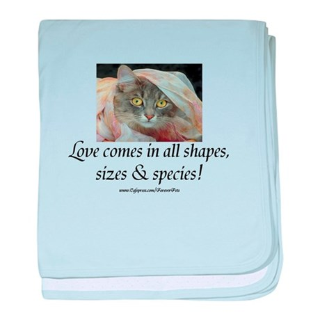 Love Comes (cat) baby blanket