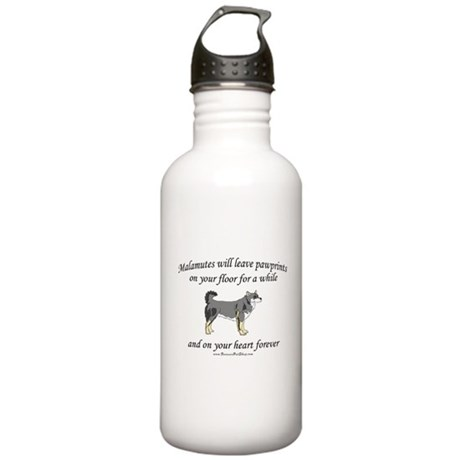 Malamute Pawprints Stainless Water Bottle 1.0L