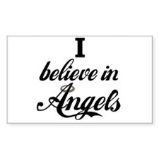I BELEIVE IN ANGELS Rectangle Decal