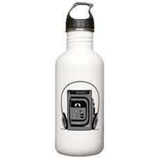 Vintage Tape Player Water Bottle