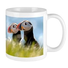 Double Puffin Pair Coffee Mug