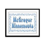 McGregor Minnesnowta Framed Panel Print