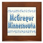 McGregor Minnesnowta Framed Tile