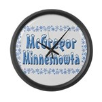 McGregor Minnesnowta Large Wall Clock