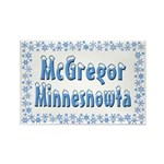 McGregor Minnesnowta Rectangle Magnet
