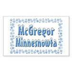 McGregor Minnesnowta Sticker (Rectangle)