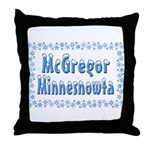 McGregor Minnesnowta Throw Pillow