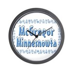 McGregor Minnesnowta Wall Clock
