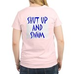 Shut Up and Swim Women's Pink T-Shirt