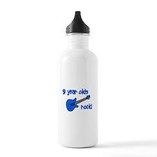 9 year olds Rock! Water Bottle