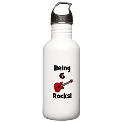 Being 6 Rocks! Guitar Water Bottle