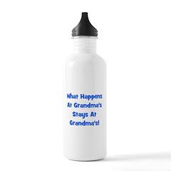 What Happens At Grandmas Blue Stainless Water Bott