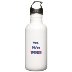 Yes, We're Twins! Blue & Pin Water Bottle