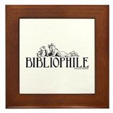 Bibliophile: Little Girl Read Framed Tile