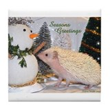 Hedgehog Casper Seasonal Coll Tile Coaster
