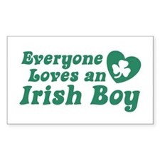 Everyone loves an Irish Boy Rectangle Decal