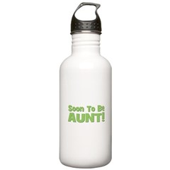 Soon To Be Aunt! Green Water Bottle