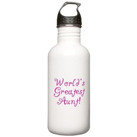 World's Greatest Aunt! Stainless Water Bottle 1.0L