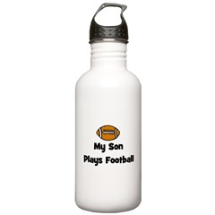 My Son Plays Football Water Bottle