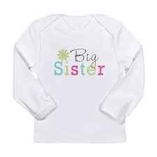 Big Sister Flower Long Sleeve Infant T-Shirt