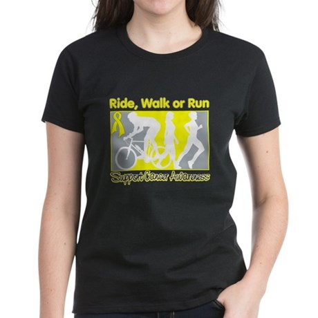 TesticularCancer RideWalkRun Women's Dark T-Shirt