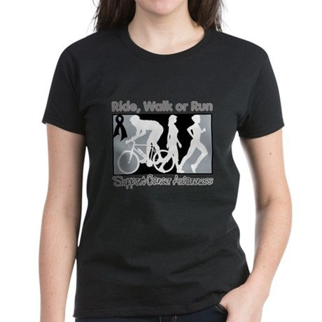 Skin Cancer RideWalkRun Women's Dark T-Shirt