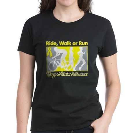 Sarcoma RideWalkRun Women's Dark T-Shirt