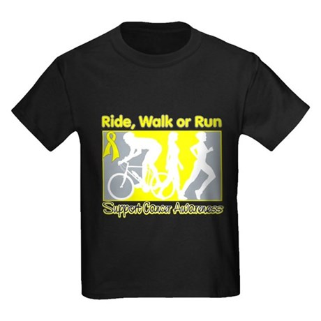 Sarcoma RideWalkRun Kids Dark T-Shirt