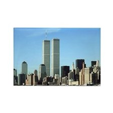 Twin Towers Rectangle Magnet