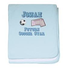 Jonah - Future Soccer Star baby blanket