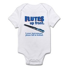 Flutes Up Front Infant Creeper