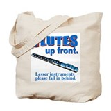 Flutes Up Front Tote Bag