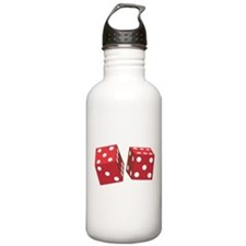 Retro Red Dice Water Bottle