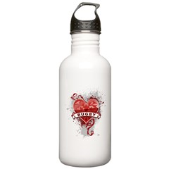 Heart Rugby Water Bottle