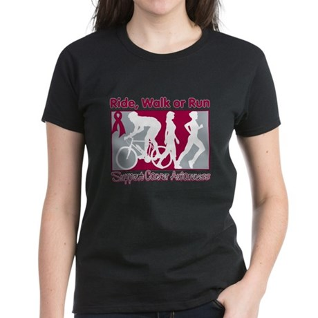 Multiple Myeloma RideWalkRun Women's Dark T-Shirt