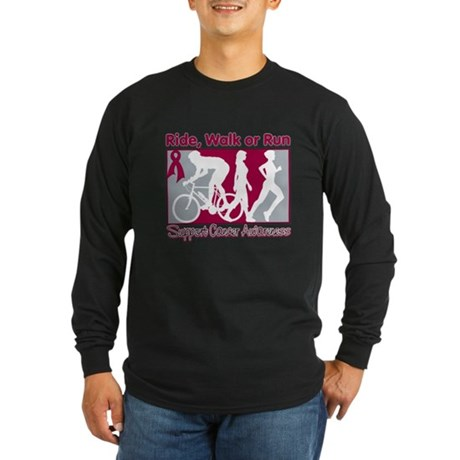 Multiple Myeloma RideWalkRun Long Sleeve Dark T-Sh