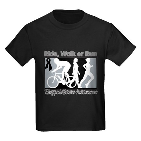 Melanoma RideWalkRun Kids Dark T-Shirt