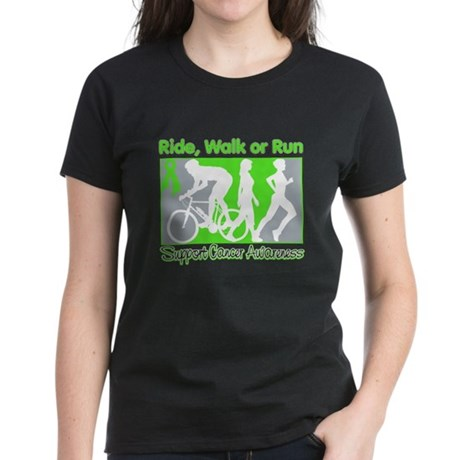 Lymphoma RideWalkRun Women's Dark T-Shirt