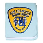 FBI EOD San Francisco baby blanket
