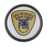 FBI EOD San Francisco Large Wall Clock