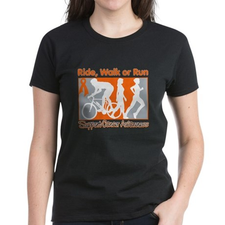 Kidney Cancer RideWalkRun Women's Dark T-Shirt