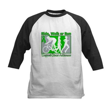 Kidney Cancer v2 RideWalkRun Kids Baseball Jersey
