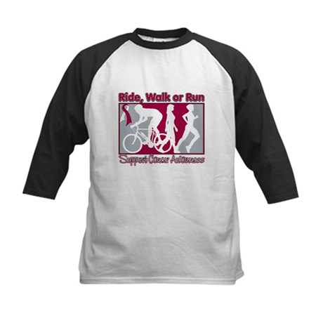 Cancer Ride Walk Run Kids Baseball Jersey