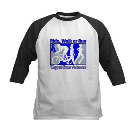Colon Cancer RideWalkRun Kids Baseball Jersey
