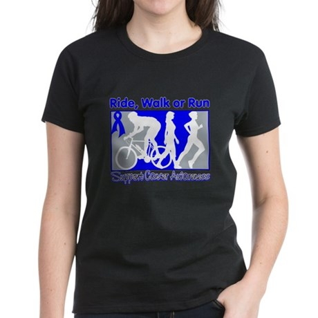 Colon Cancer RideWalkRun Women's Dark T-Shirt