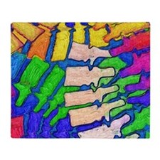 Colorful Spine Art Throw Blanket