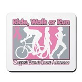 Breast Cancer RideWalkRun Mousepad