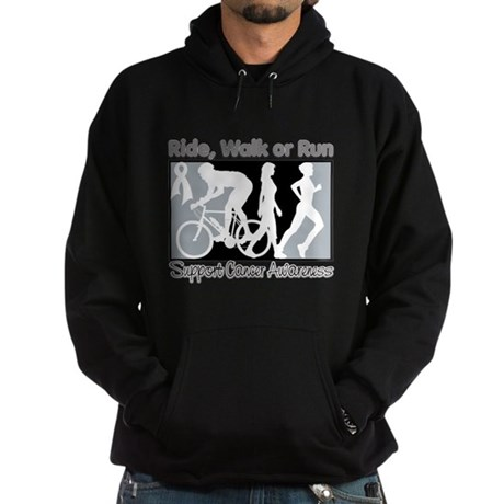 Bone Cancer RideWalkRun Hoodie (dark)